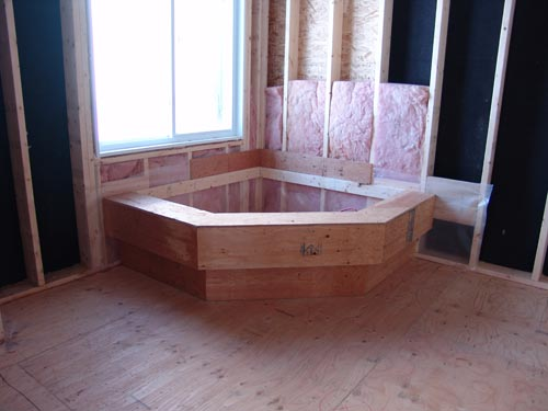 Corner Bathtub Wood Structure